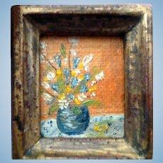 Vintage Artist Made OIL PAINTING 1:12 Dollhouse Miniature