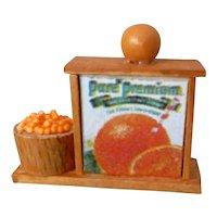 Vintage Artist Made Orange & Orange Juice Display 1:24 Scale Dollhouse Miniature