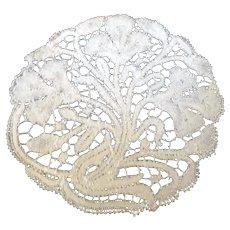 """Antique Set 10 Art Nouveau Cantu Italian Lace 6"""" Doilies Coasters"""