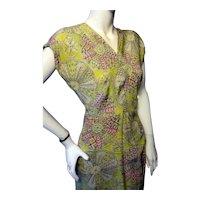 1940s Rayon or Silk Dress WOW! Bust 36