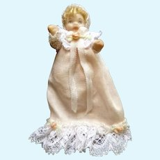 Vintage Artist Made 1:24 Scale BABY DOLL Dollhouse Miniature