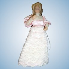 "Vintage 5.5"" VICTORIAN WOMAN Dollhouse Doll 1:12 Miniature"