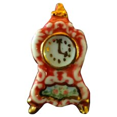 IGMA Artist Betty Neiswender MANTLE CLOCK 1:12 Dollhouse Miniature