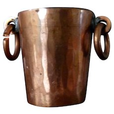 Vintage COPPER BUCKET Dollhouse Miniature 1:12
