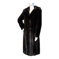 Beautiful Vintage Full Length MAHOGANY MINK COAT M-L
