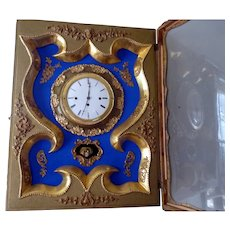 Large Vintage Artist Made FRENCH WALL CLOCK Rococo Style Chimming