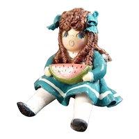 Artist Made OOAK DOLLHOUSE DOLL for Nursery 1:12 Dollhouse Miniature