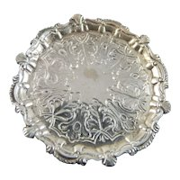 Artist Made PLATTER CINI Sterling Silver 1:12 Dollhouse Miniature