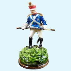Vintage Artist Kay Lewis STAFFORDSHIRE SOLDIER Dollhouse Miniature 1:12
