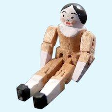 "Eric Horne Artist Made 1"" NURSERY WOODEN DOLL Toy 1:12 Dollhouse Miniature"
