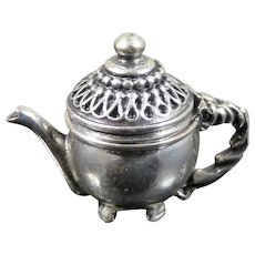 Artist Made TEA POT Sterling Silver 1:12 Dollhouse Miniature
