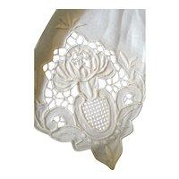 Vintage Madeira Embroidered 11 NAPKINS MOVIE STAR Margaret O'Brien ESTATE!