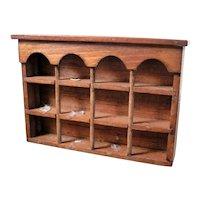 Artist Made Display Shelf for TOBY MUGS 1:12 Dollhouse Miniature