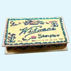 GREAT Vintage WHITMAN'S SAMPLER Candy Box 1:12 Dollhouse Miniature