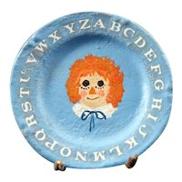 Artist Made RAGGEDY ANN Display Plate 1:12 Dollhouse Miniature