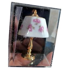 Reutter Dollhouse Miniature Porcelain & Brass Lamp 1:12 Dollhouse Miniature