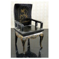 Vintage Asian Chinese Lacquer CHAIR 1:12 Dollhouse Miniature
