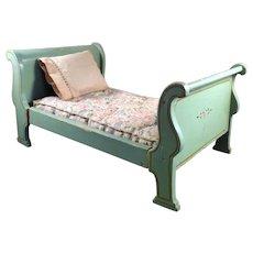 Vintage TYNIETOY EMPIRE BED Mattress & Pillow 1:12 Dollhouse Miniature