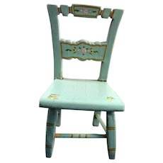 RARE Vintage Tynietoy PAINTED CHAIR 1:12 Dollhouse Miniature