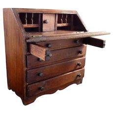 RARE Vintage TYNIETOY Winthrop Drop Front Desk 1:12 Dollhouse Miniature