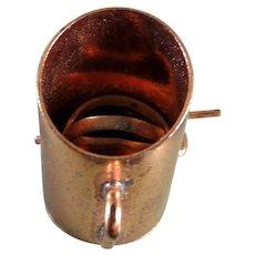 Vintage TYNIETOY Copper Flour Sifter 1:12 Dollhouse Miniature