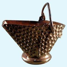 Vintage TYNIETOY Copper Coal Bucket 1:12 Dollhouse Miniature