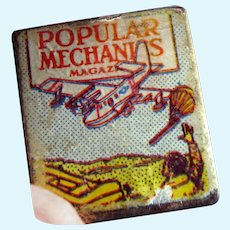 Vintage 1920s Popular Mechanics Magazine TYNIETOY? 1:12 Dollhouse Miniature