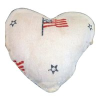 Vintage 1920s TYNIETOY Flag Pillow 1:12 Dollhouse Miniature