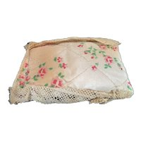 Vintage 1920s TYNIETOY Lace Edge Pillow 1:12 Dollhouse Miniature