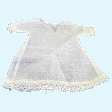 """Antique 15-16"""" Dollhouse Doll Linen & Lace SLIP Undergarments"""