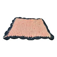 Vintage 1920s TYNIETOY Hand Crochet RUG 1:12 Dollhouse Miniature