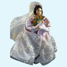Vintage SPANISH WOMAN Dollhouse Doll 1:12 Dollhouse Miniature
