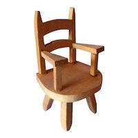 Vintage TYNIETOY NURSERY Chair 1:12 Dollhouse Miniature