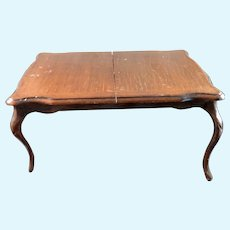 Vintage Artist Expandable DINING TABLE With 2 Leaves 1:12 Dollhouse Miniature