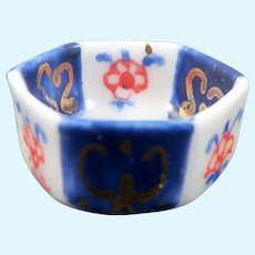 Vintage Artist Hand Painted FOOTED BOWL 1:12 Dollhouse Miniature