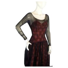 Stunnning 1950s FRENCH COUTURE Bubble Dress XS