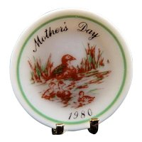 Artist Marie Friedman MOTHERS DAY DISPLAY PLATE 1:12 Dollhouse Miniature