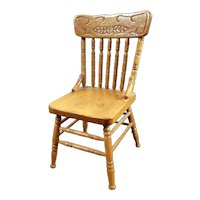 Vintage Wooden Reminiscence CHAIR 1:12 Dollhouse Miniature