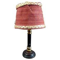 Vintage Wired Custom TABLE LAMP 1:12 Dollhouse Miniature