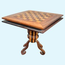 Vintage J. Paul Artist CHESS TABLE 1:12 Dollhouse Miniature
