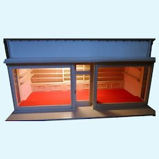 Vintage Artist Made LARGE SHOP 1:12 Room Box Dollhouse
