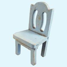 Antique Vintage German Wood Chair 1:12 Miniature