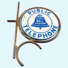 Vintage Enamel & Metal Public TELEPHONE SIGN 1:12 Miniature