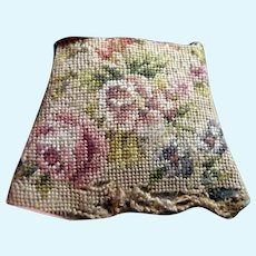 Antique Petit-Point Embroidery CHAIR SEAT 1:12 Dollhouse Miniature