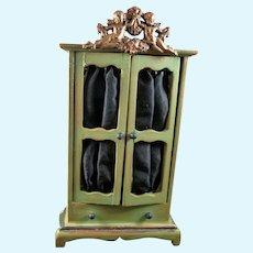 Vintage Artist ARMOIRE With Cherubs 1:12 Dollhouse Miniature