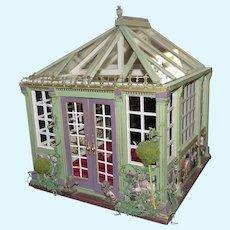 Artist Made GREENHOUSE Solarium Music Room 1:12 Dollhouse Roombox