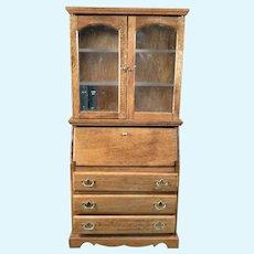Vintage Artist D. Harvey SECRETARY Cabinet 1:12 Dollhouse Miniature 1:12