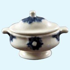 Vintage Artist Carol Jackman Soup Tureen 1:12 Dollhouse Miniature