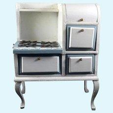 Vintage Wood Kitchen OVEN STOVE 1:12 Dollhouse Miniature
