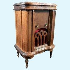 Vintage Wood Free Standing RADIO 1:12 Dollhouse Miniature